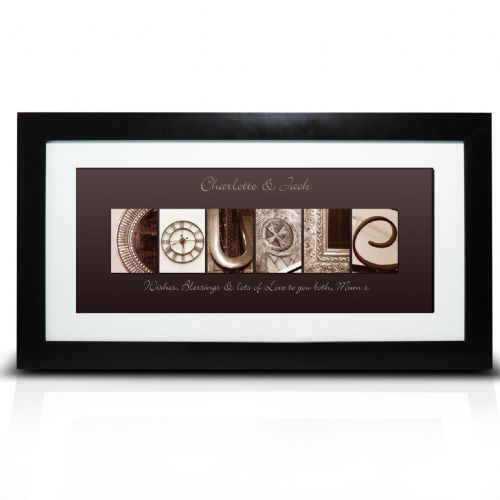 Personalised Affection Art Large Couple Frame